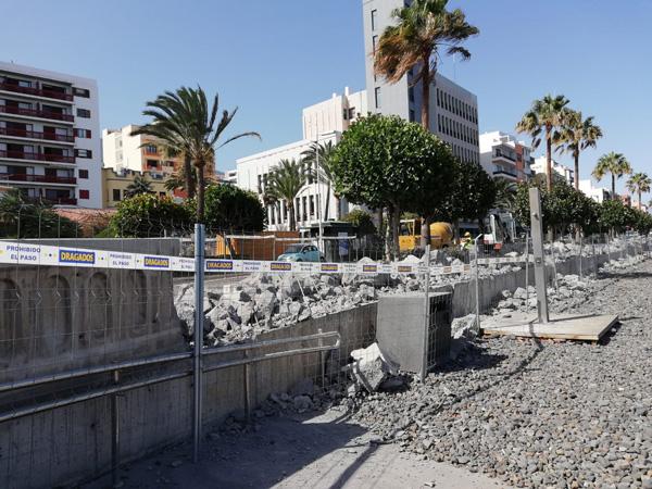 Resultado de imagen de La avenida  maritima obra la palma santa cruz